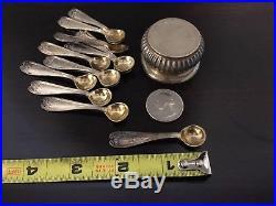 (12) VINTAGE TIFFANY & Co. STG STERLING SILVER SALT SPOONS