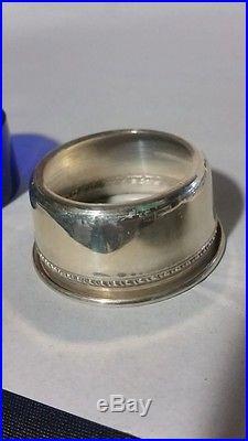 12 Vintage Sterling Silver & Cobalt Glass Open Salts