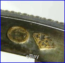 1777 1819 Napoleon Bonapart Family Sterling Silver Open Salt Hallmarks authentic