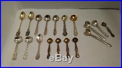 18 Antique Sterling Silver Salt Cellar Spoon Mixed Lot (64.2 Grams) Gorham, Ect