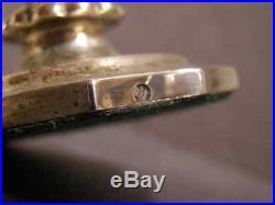 1830s Sandwich Blown Cut Flint Glass Salt Cellar Sterling Hallmarked Coin Silver