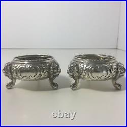 1870-71 ECB Silver Salt London England Lions Head and Claw Feet -Clear Marks
