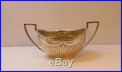 1897 Chester England John & William Deakin Sterling Boxed Salt Cellars & Spoons