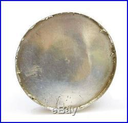 19C Chinese Jade Archer Ring Carved Sterling Silver Salt Pepper Cellar Mk
