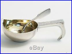 19C Russian Silver Kovsh Spoon Salt Cellar Lubavin