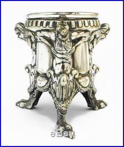 19th Century SWEDISH SILVER PLATED FIGURAL SALT CELLAR c1890