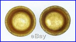 2 Breslau German POLAND Solid Silver Salts Figural Swan Gold Wash MW c1820