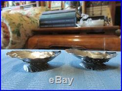 2 GORHAM SHELL Salt Cellars NARRAGANSETT Style AESTHETIC STERLING SILVER 2035