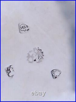 - (2) James Waters English Georgian Salt Cellars London 1766 & 1770 Period Crest