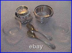 2 salières argent mercure Boin taburet (french silver salt cellars) +2 cuillères