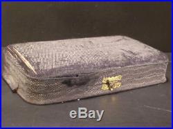 20's Antique Lenox Porcelain Sterling Silver Salt Dip Cellar Spoon Set Box Case