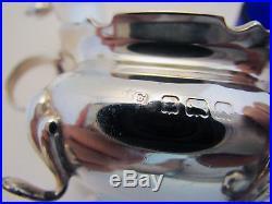 20s Sterling Silver 3-Piece Salt Cellar Mustard Pot Cruet Spoon Antique/Vintage