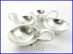 4 Georg Jensen Sterling Silver Salt Cellars#110 #5159
