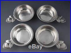 4 Sterling GEORG JENSEN Salt Cellars / Dishes CACTUS Denmark