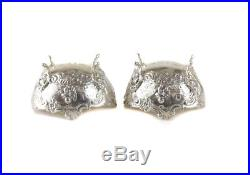 8 Gebruder Neumann German 800 Silver Open Salt Cellars / Seasoning Bowl, c1930