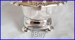 A George lll sterling silver salt cellar. Sheffield 1812. By S C Younge & Co