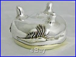 A Pair Of Tiffany Japonesque Parcel Gilt Silver Salt Cellars, Marine Life