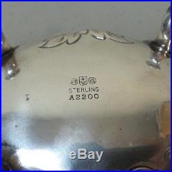 ANTIQUE GORHAM STERLING SILVER SALT CELLAR, ELABORATE REPOUSSE DESIGN, 71 grams
