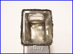 ANTIQUE STERLING SEDAN CHAIR 18th C MINIATURE RARE Glass Insert Salt Cellar