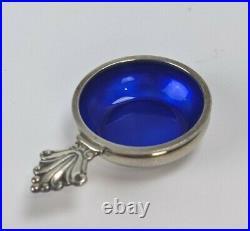 Acanthus Open Salt Blue Enamel Georg Jensen Sterling Silver 1917 Cellar