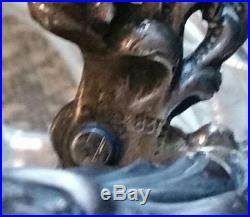 Albo 835 Sterling Silver & Crystal Rooster Master Salt With 925 Salt Spoon