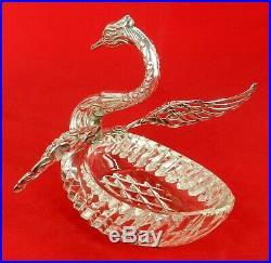 Albo Albert Bodemer German 835 Silver Large Swan Master Salt Cellar Candy Dish