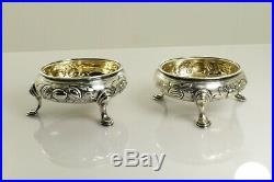 Antique 1763 Salt and Pepper Cellars in Sterling Silver by John Munns