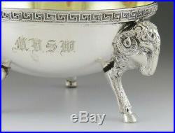 Antique 19th Century Tiffany & Company Coin 900 Silver Rams Head Salt Cellar