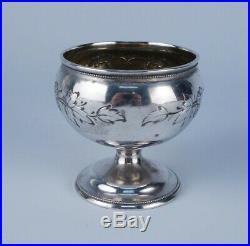 Antique Abolitionist American Coin Silver Salt Cellar Rev. H. G. Ludlow 1858 AAFA