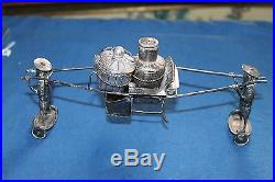 Antique Chinese Sterling Silver Wai Kee Cady WithBasket Salt Cellar & Lid