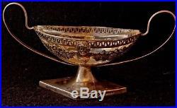 Antique Collectible Germany 800 Silver Salt Cellar Mustard Pot