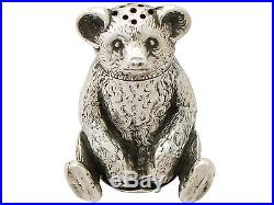 Antique Edwardian Sterling Silver'Bear' Pepperette
