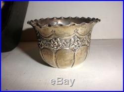 Antique English George Jackson David Fullerton open salt cellar sterling silver