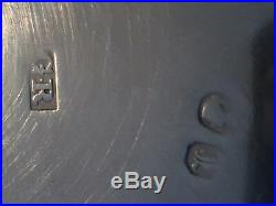 Antique English Sterling Silver Cauldron Open Salt Cellar Pair 1846
