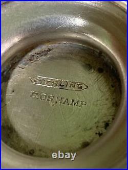 Antique Etched Sterling Silver Salt Dishes Cellars C Oskamp