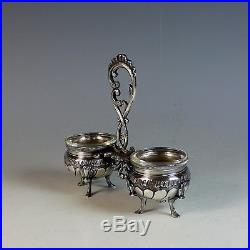 Antique French Silverplate Double Open Salt Cellar