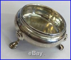 Antique Georgian Solid Silver Salt Cellar 51.8grams