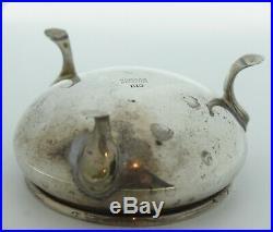 Antique Gorham 1110 Salt Cellar Sterling Silver Cobalt Blue Glass Old French
