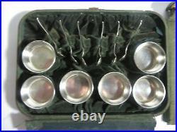 Antique Gorham Sterling Salt Cellars Set 6 A4063 6 Gorham H205 Salt Spoons