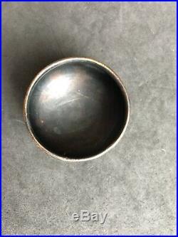 Antique Hallmarked Russian Silver And Enamelled Cloisonne Salt Cellar