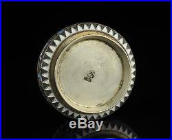 Antique Imperial Russian 84 silver salt cellar, multi color enamel