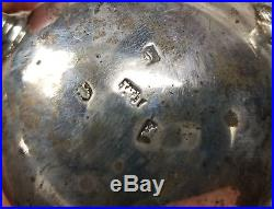 Antique Irish Sterling Silver Hallmarked Master Salt Cellar Bowl Footed Dish