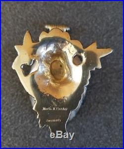 Antique Judaica Fleisher Sterling Silver Dolphin Salt Martin M Fleisher NYC
