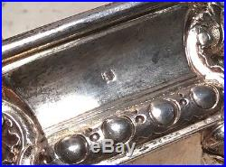 Antique Odiot French. 950 Sterling Silver Pair Neoclassical Master Salt Cellars