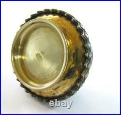 Antique Pair 2 Imperial Russia Russian Cloisonne Enamel Salter Marks Salt Cellar