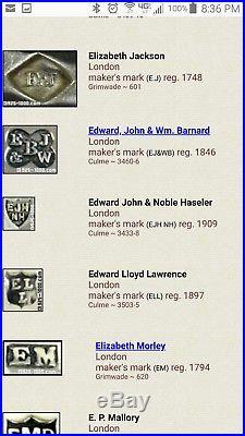 Antique Pair London early 1900's Sterling Silver Salt Cellars Lion Edward John