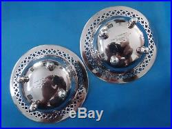 Antique Pair TIFFANY & CO. Sterling Silver Reticulated Salt Cellars 1900 1940