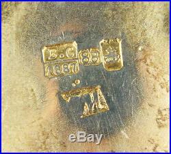 Antique Russian 84 Silver Enamel Miniature Salt Cellar