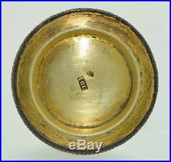 Antique Russian Cloisonné Enamel Silver Open Salt St. Petersburg