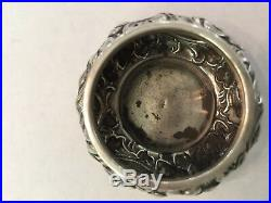 Antique Theodore A. Kohn & Son Sterling Silver Repousse Pair of Salt Cellars